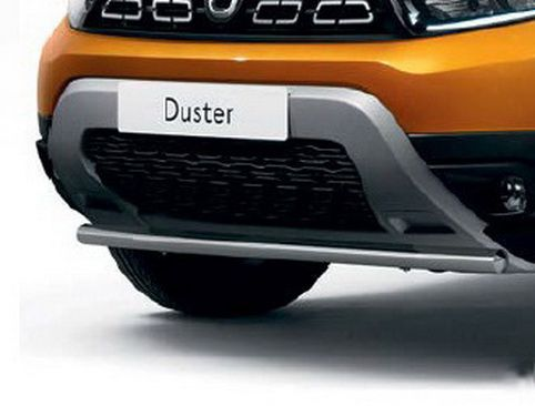 Loading Edge Protector For Dacia Duster II 2018-2020 Bumper Brushed Stainless Steel