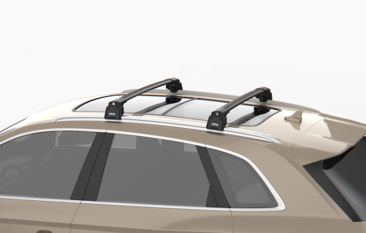 Renault Clio IV - Premium barres de toit transversales- noir intense