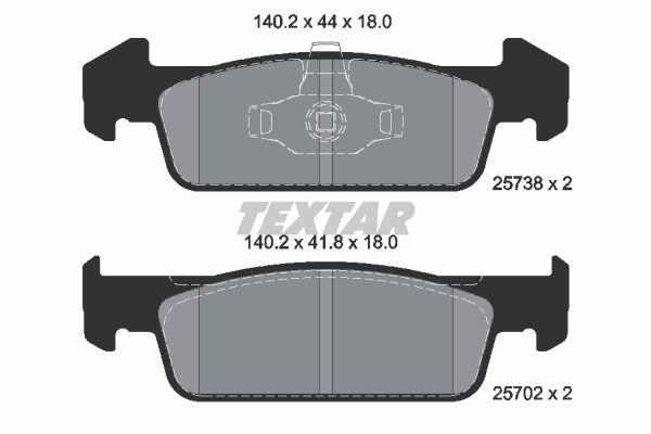 Brake pads - front (car with ESP) DACIA SANDERO II (TEXTAR 2573801)