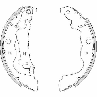 Zapatas de freno DACIA DOKKER / DUSTER / DUSTER II / LODGY (TRW GS8780)
