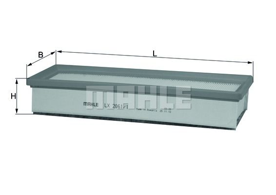 Air filter LX 2061/1 (KNECHT)