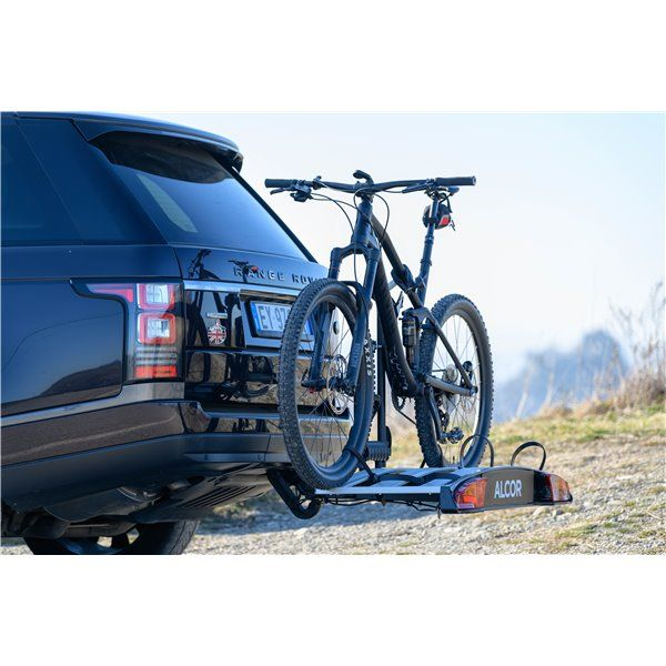 Menabo Merak Eco bike holder for 2 bikes with attachment on the towing hook