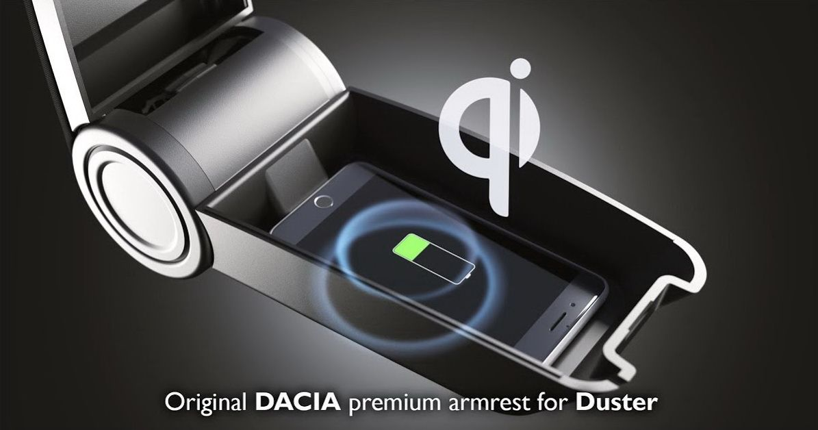 Duster II (2018-2021) - Acoudoir pour version Prestige avec recharge sans fil (D'origine Dacia)