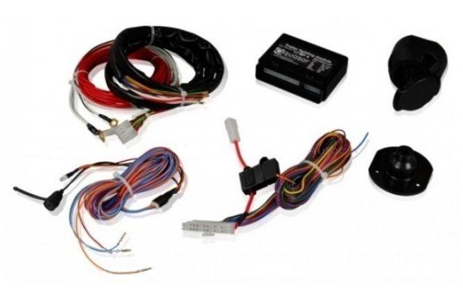 Lodgy - Conjunto de remolque (gancho de remolque + barra de remolque + kit eléctrico) Hakpol