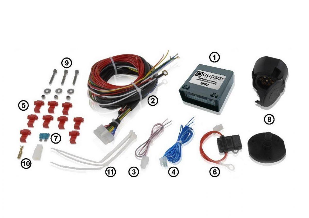 Dokker - Towing set (towing hook + tow bar + electrics set) Galia