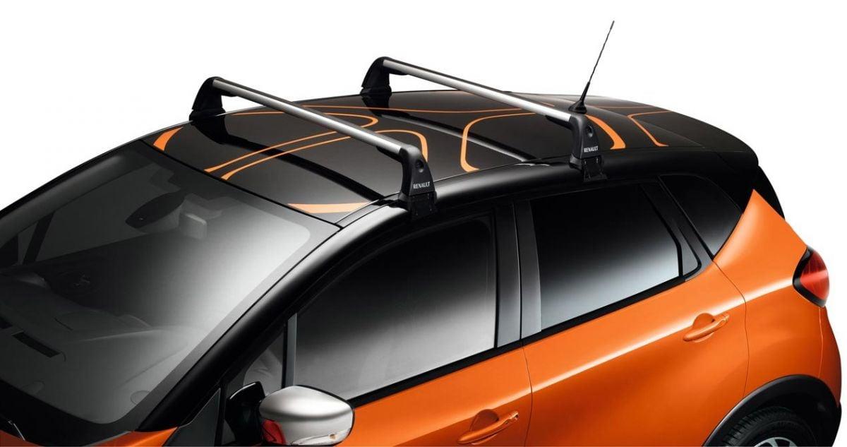 Renault Captur I (2013-juin 2019) - Barres de toit transversales (Renault Original)