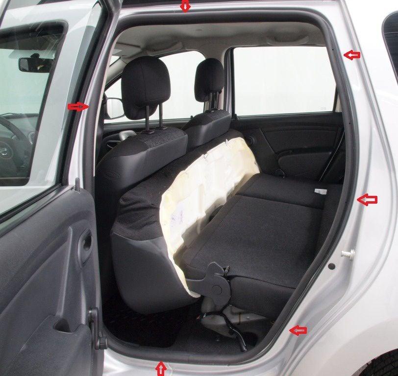 Duster (2010-2017) - Door interior seals- rear left (Dacia Original)