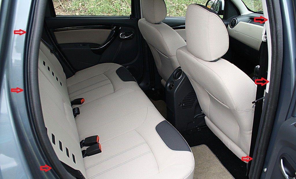 Duster (2010-2017) - Sellos interiores de puertas- trasero derecho (Dacia Original)