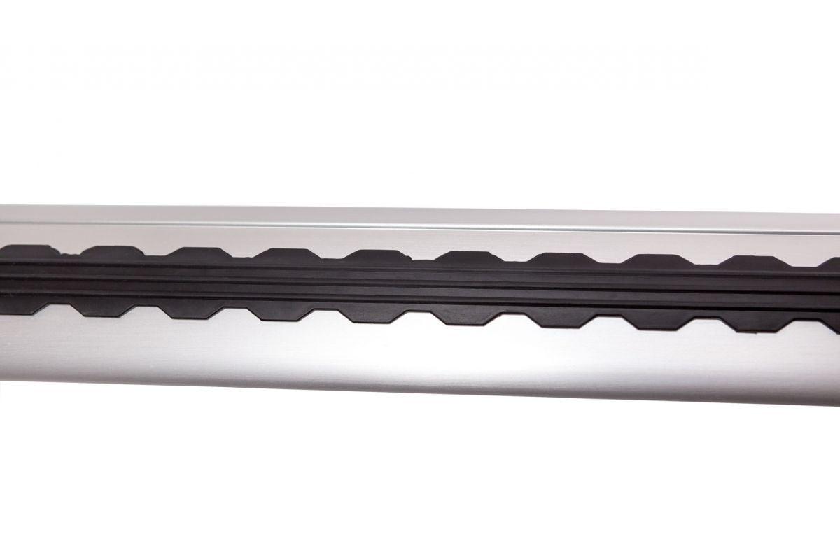 Dokker - Premium Barre trasversali da tetto- argento brillante
