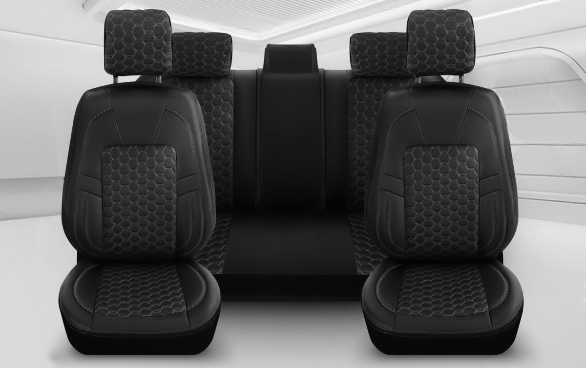 Lodgy - Black Edition Seat covers Premium Leather - tailor made for Lodgy