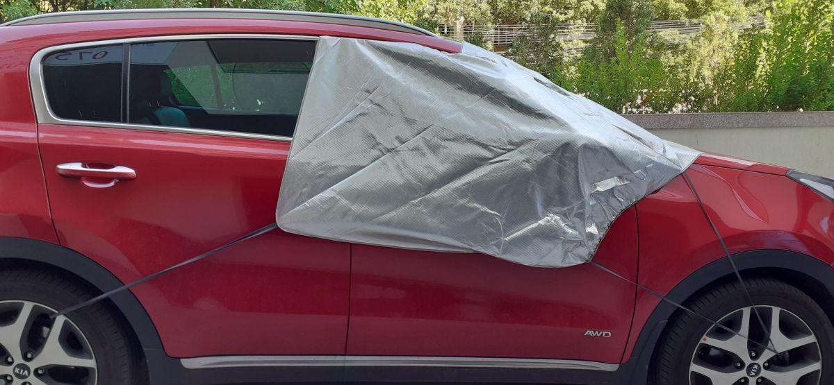 Duster/Lodgy/Dokker - Protección del parabrisas contra el sol y las heladas