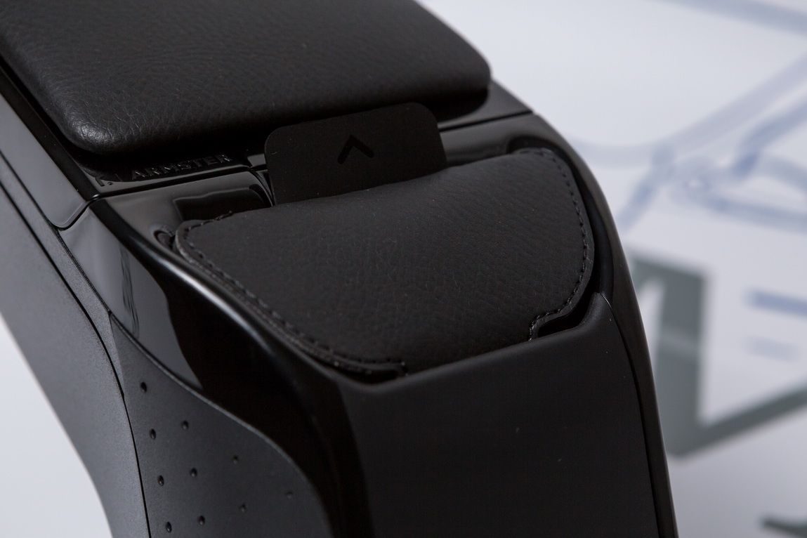 Duster II (2018-2021) - Premium Accoudoir avec poche portable - Noir