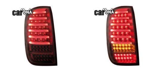 Duster (2013-2017) - Completa LED Luces traseras de color rojo oscuro