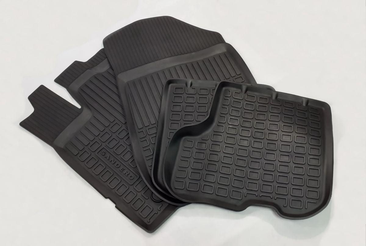 Sandero II (2012-2020) - Rubber floor mats with high edges (Dacia Original)