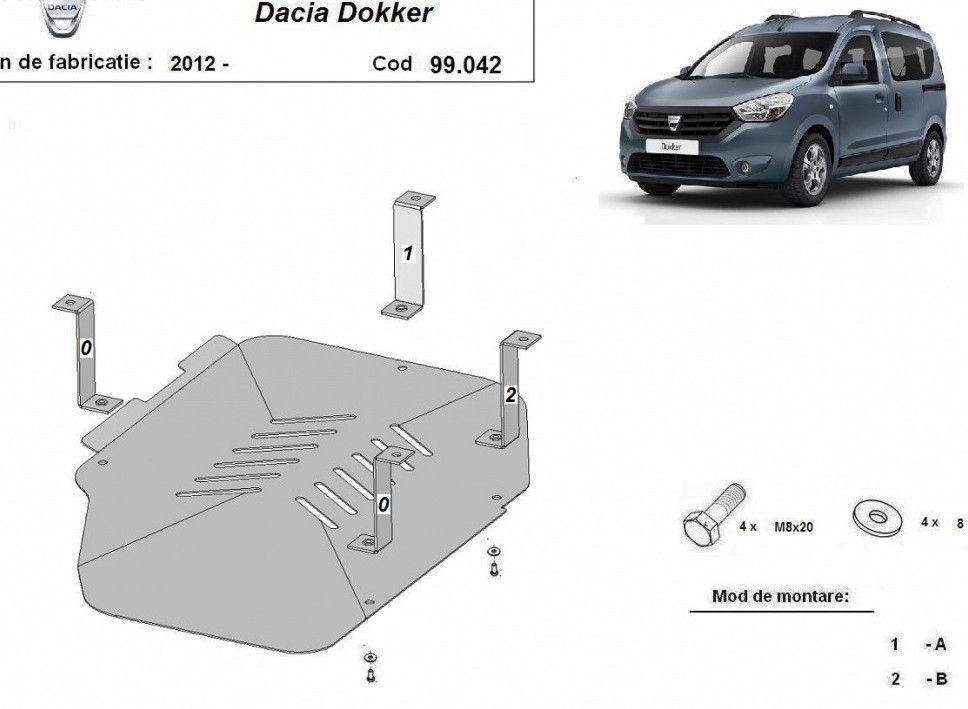 Dokker - Escudo del metal para tanque de combustible