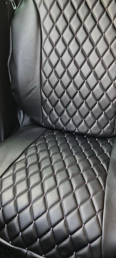 Duster II (2018-2021) - Fundas de asientos Estilo lujoso- Cuero Negro