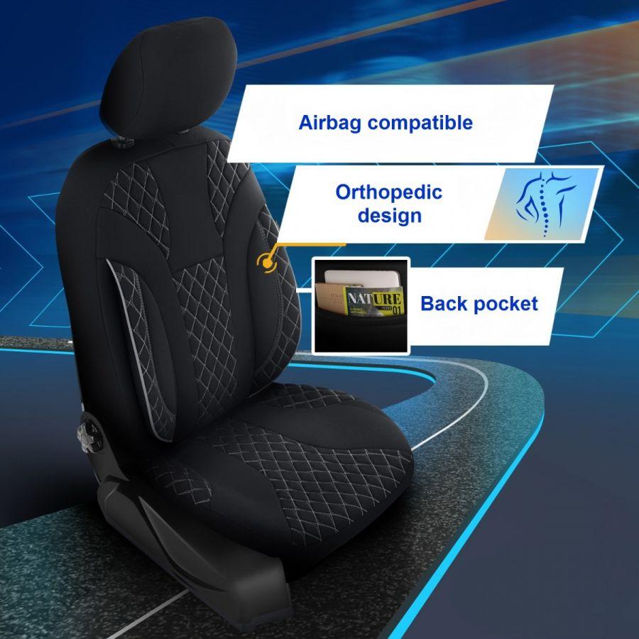 Duster II (2018-2021) - Housses de siège Siena - fait sur mesure pour Duster et compatible avec accoudoir latéral