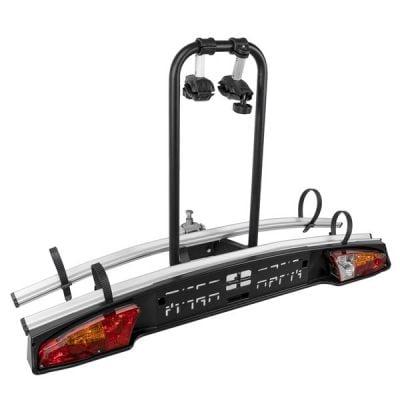 Menabo Merak Tilting bike holder for 2 bikes with towbar mount