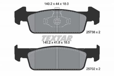 Plaquettes de frein - avant (voitures avec ESP) DACIA SANDERO II (TEXTAR 2573801)