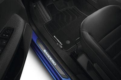 Sandero III - Textile floor mats Premium (Dacia Original)
