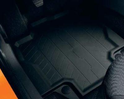 Renault Captur - Tapis de sol en caoutchouc avec des bords élevés (Renault Original) 2013-2019