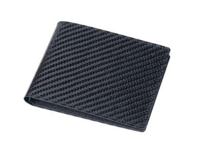 Wallet with carbon fiber look