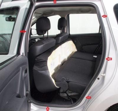 Duster (2010-2017) - Joints intérieurs de porte- arrière gauche (Dacia Original)