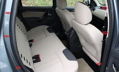 Duster (2010-2017) - Joints intérieurs de porte- arrière droit (Dacia Original)