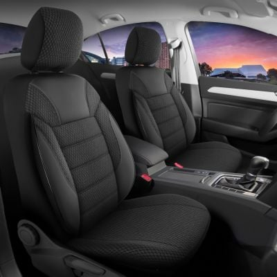 Duster II (2018-2021) - Seat covers Elegant Classico - tailor made for Duster and compatible with side armrest