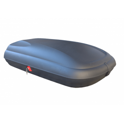 Coffre de toit avec aspect fibre de carbone 320L, Noir, 131x77x34