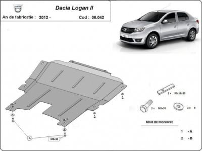 Logan II - Blindage métallique moteur