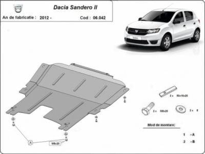 Sandero II (2012-présent) - Blindage métallique moteur