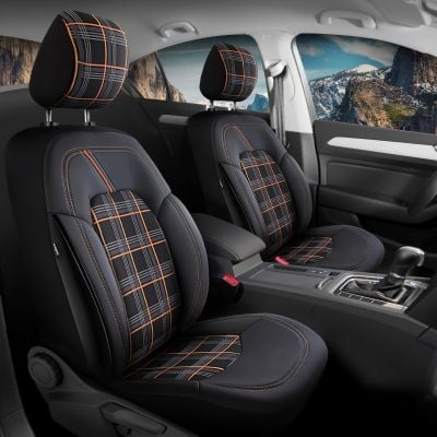 Duster II (2018-2021) - Seat covers Dynamic - tailor made for Duster and compatible with side armrest