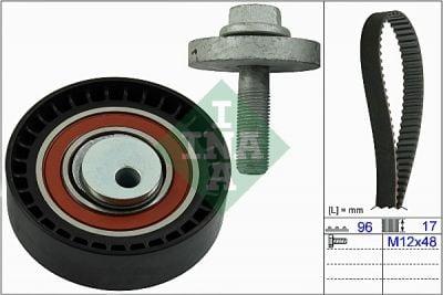 Courroie de distribution kit DACIA SANDERO II (INA 530019510)