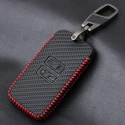 Renault Kadjar/ Koleos/ Megane IV - Porte-clés en cuir avec aspect fibre de carbone
