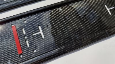 Carbon fiber license number plate frames (standard size EU/UK)