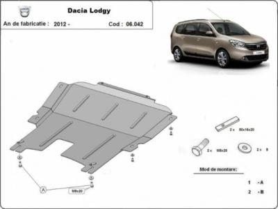Lodgy - Blindage métallique moteur