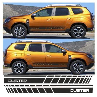 """Duster II (2018-2021) - Portes latérales autocollants """"Nouveau Style"""" ensemble"""