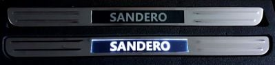 Sandero II / Sandero III - LED Illuminated door sills - front