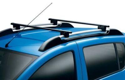 Sandero II Stepway (2012-présent) - Acier barres de toit transversales (Dacia Original)