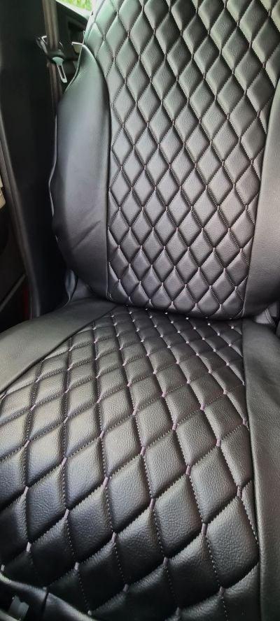 Duster II (2018-2021) - Housses de siège Style luxueux - Cuir Noir