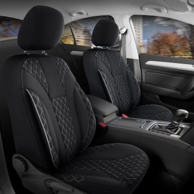 Duster II (2018-2021) - Seat covers Siena - tailor made for Duster and compatible with side armrest