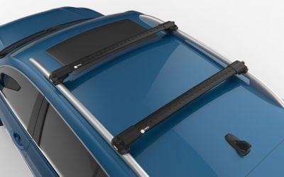 Logan II MCV - Premium Barras de techo travesaños- negro intenso
