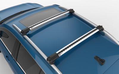 Sandero Stepway / Sandero II - Premium barres de toit transversales- argent brillant