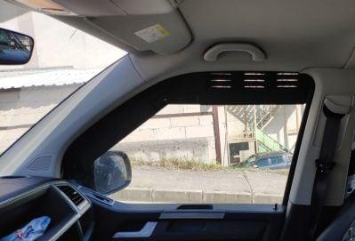 """Dokker - Black aluminium window air deflector """"Fury Road"""""""