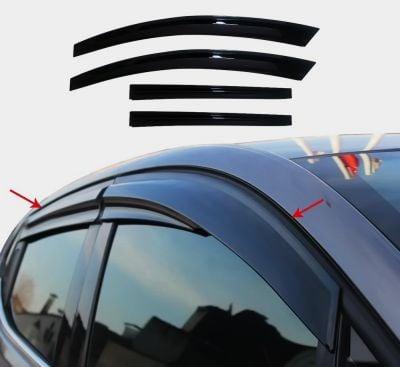 Renault Megane IV - Deflettori del vento set anteriore e posteriore