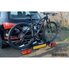 Menabo Altair bike holder for 2 bikes with attachment on the towing hook