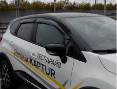 Renault Captur (2013-) - Deflectores del viento conjunto delantero y trasero