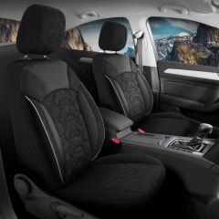 Duster II (2018-2021) - Fundas de asientos Canyon - hecho a medida para Duster y compatible con apoyabrazos lateral