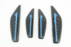 Door bumper strips for car side protection-Black and blue